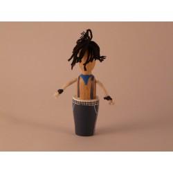 """Reproducció artesanal de figura de fusta del gegant """"Farras"""""""