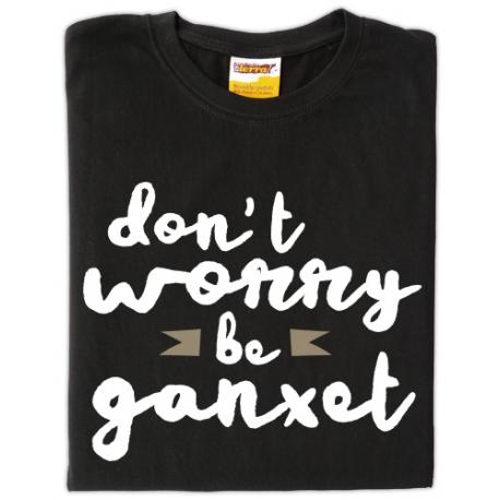 Samarreta don't worry be ganxet