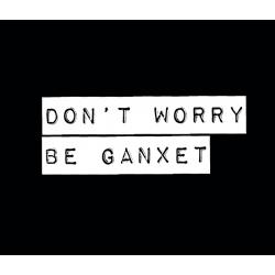 Samarreta don't worry be ganxet etiqueta