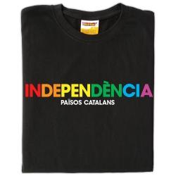 Samarreta Independència - colors de l'Arc de Sant Martí