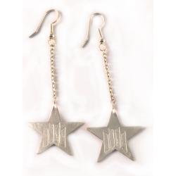 Arracades de plata llargues estrella