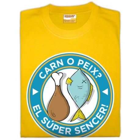 Samarreta unisex carn o peix el super sencer