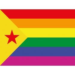 Bandera-domàs estelada roja - Arc de Sant Martí