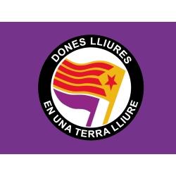 Bandera-domàs Dones Lliures en una Terra Lliure