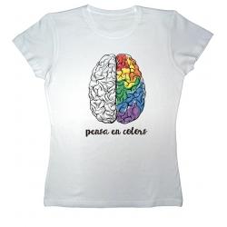 Samarreta NOIA Pensa en colors - cervell