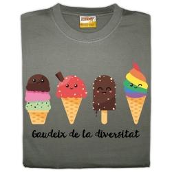Samarreta unisex Gaudeix de la diversitat - gelats