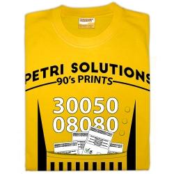 Samarreta unisex Petri Solutions imprimint butlletes