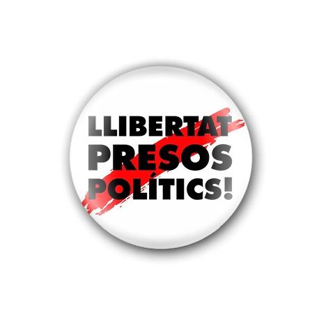 """Xapa """"Llibertat presos polítics"""""""