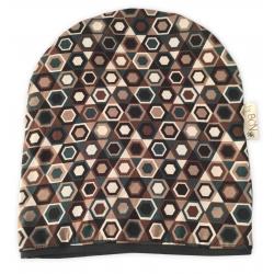 Nova barretina ByBCN BN003 estampat hexàgons marrons