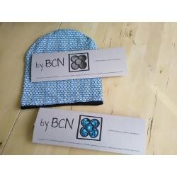 Nova barretina ByBCN BN001estampat hexàgon turquesa