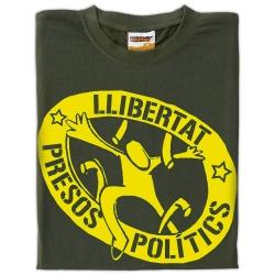 Samarreta Llibertat presos polítics trencant barrots