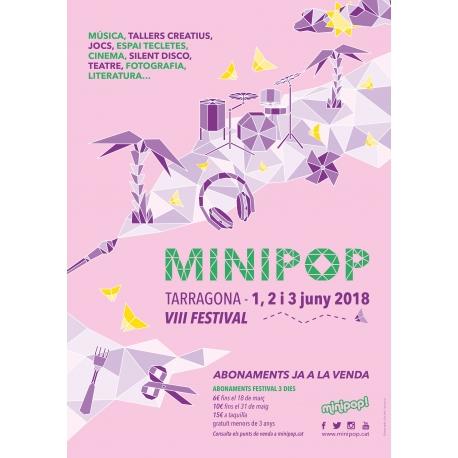 Abonament preu reduït Minipop 2018