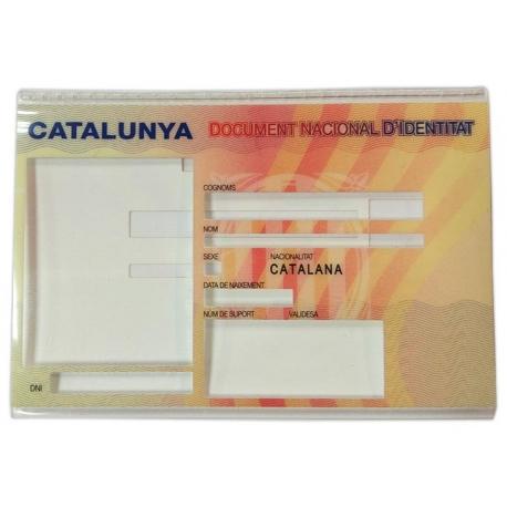 Funda per catalanitzar el DNI antic