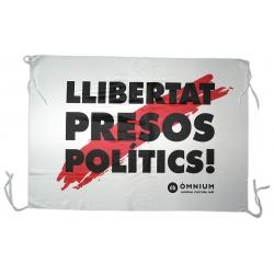 Banderola domàs Llibertat Presos Polítics