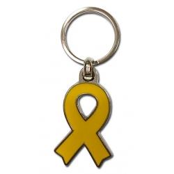 Clauer llaç groc de metall suport presos politics