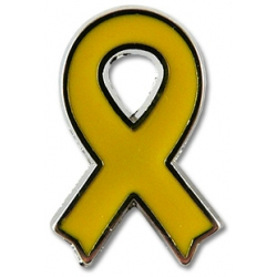 Pin llaç groc de metall PETIT