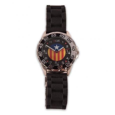 Rellotge home estelada negre