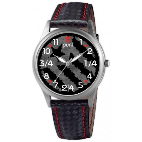 Rellotge Home Acer i Pell Estelada negre ES01