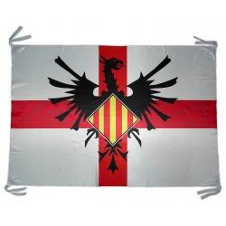 Bandera domàs Au Fènix i Creu de Sant Jordi