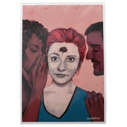Postal amb il·lustració - Eh, madame - La Pegatina