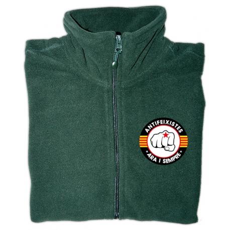 Jaqueta polar verda antifeixistes