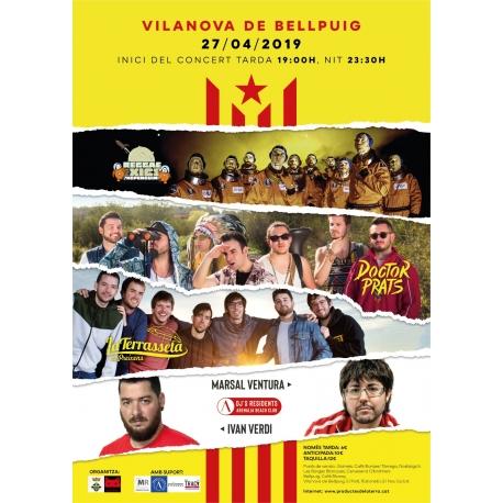 Entrada concert de l'estelada a Vilanova de Bellpuig 2019