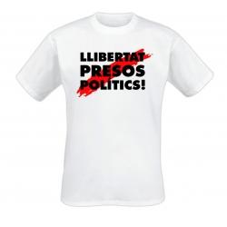 Samarreta blanca Llibertat presos polítics