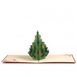 Postal amb relleu Arbre de nadal
