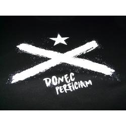 Samarreta Donec Perficiam bandera negra