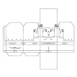 Castellers de paper retallable A4 per PINTAR