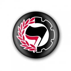 """Xapa """"Antifeixista banderes"""""""