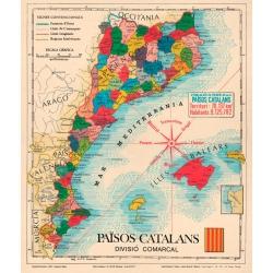 Mapa dels Països Catalans de Joan Ballester i Canals i Antoni Bescós