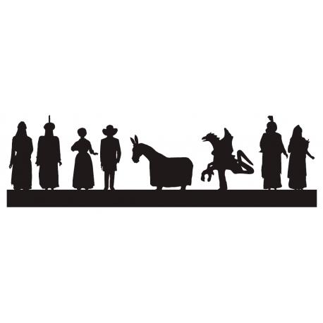 Silueta gegants amb bestiari de Tarragona
