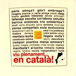 Samarreta unisex bicolor blanca Viu plenament en català