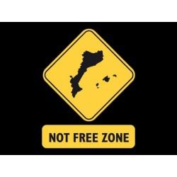 Samarreta noia Not free zone