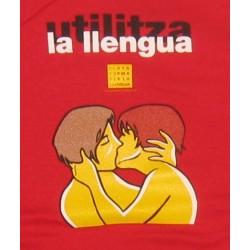 Samarreta de tirants vermella Utilitza la llengua