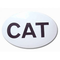 Adhesiu plàstic CAT petit el·líptic