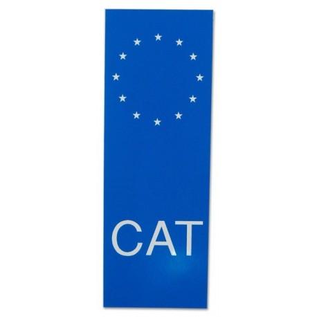 Adhesiu plàstic CAT per matrícula