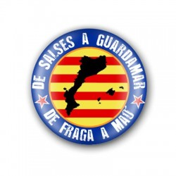 Xapa Països Catalans blava