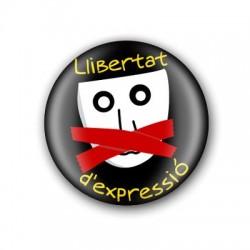 Xapa Llibertat d'expressió