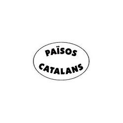 Adhesiu plàstic Països Catalans blanc gran