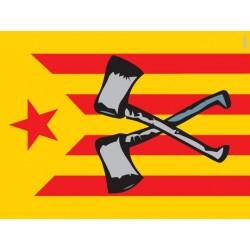 Bandera Estelada amb destrals