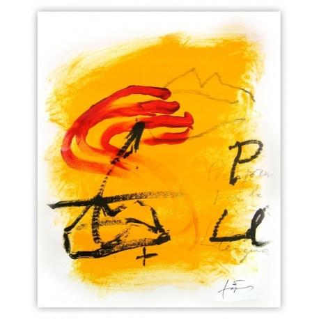 cartell de 50x41 cm Antoni Tàpies Plataforma per la Llengua