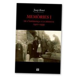 Llibre Memòries I, de l'esperança a la desfeta (1920-1939)